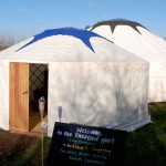 A YurtsForLife yurt being used for a Riverford Farm event