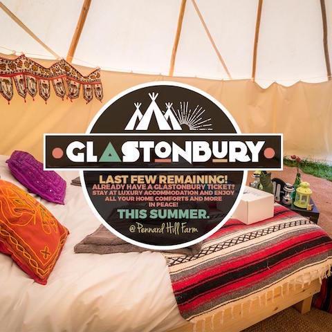 Glastonbury accommodation at Pennard Hill Farm