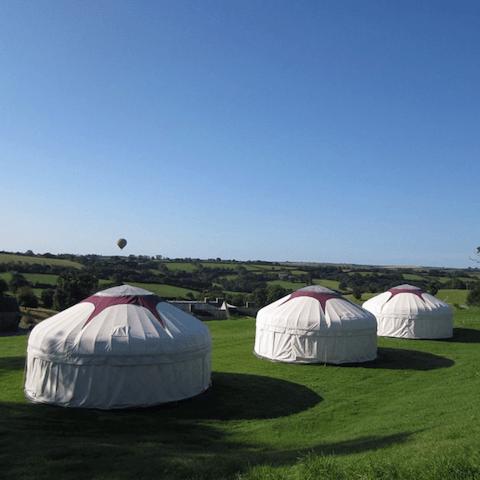 Yurts at Kingston Estate