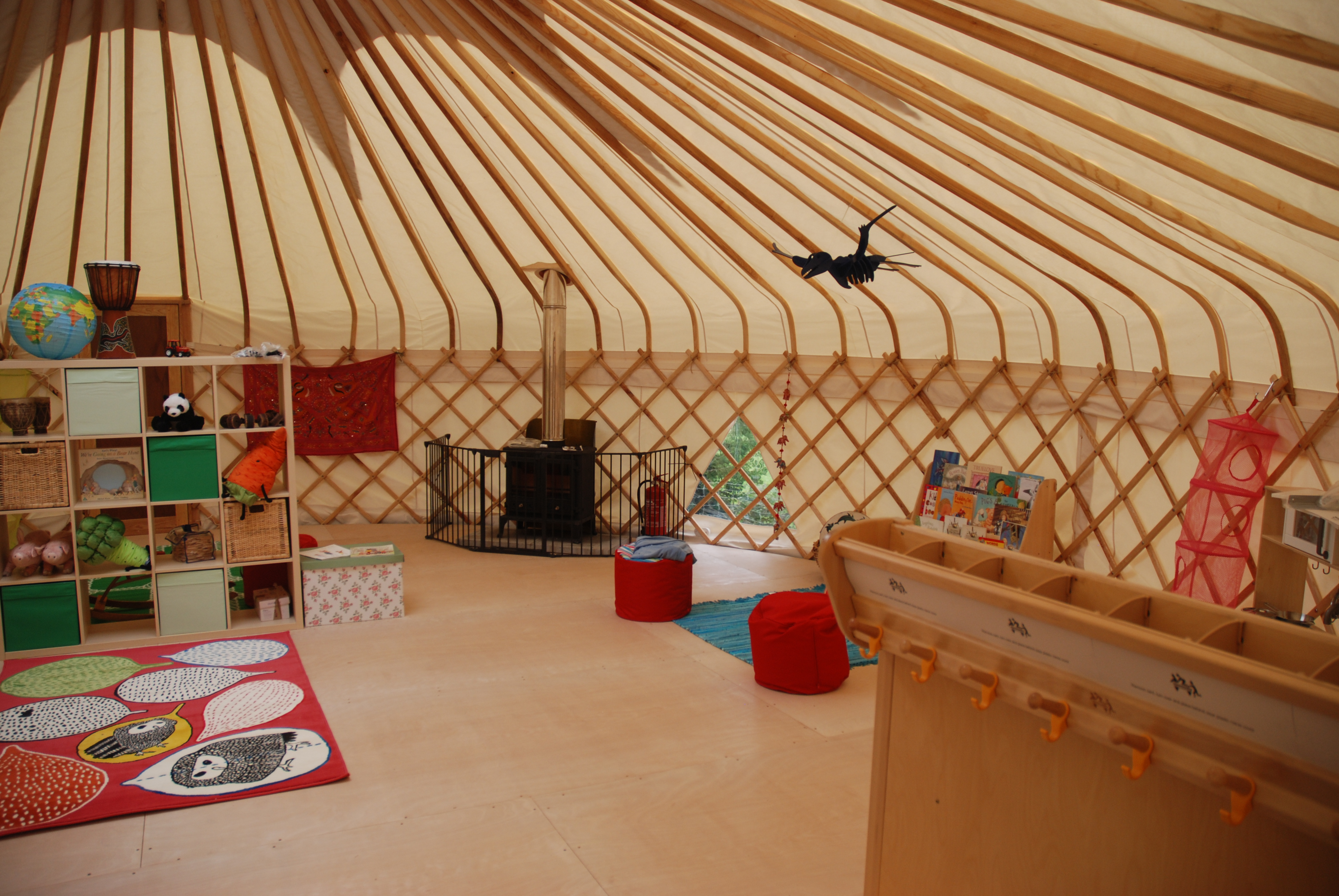 One of our yurt nurseries at Farley (interior)