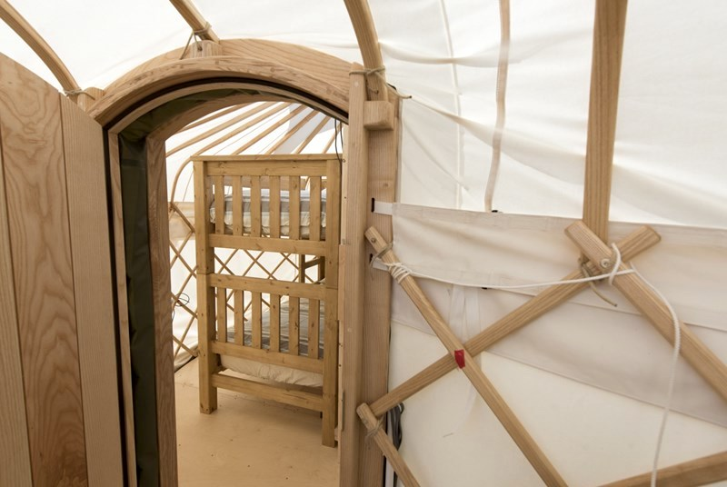 podding with yurts