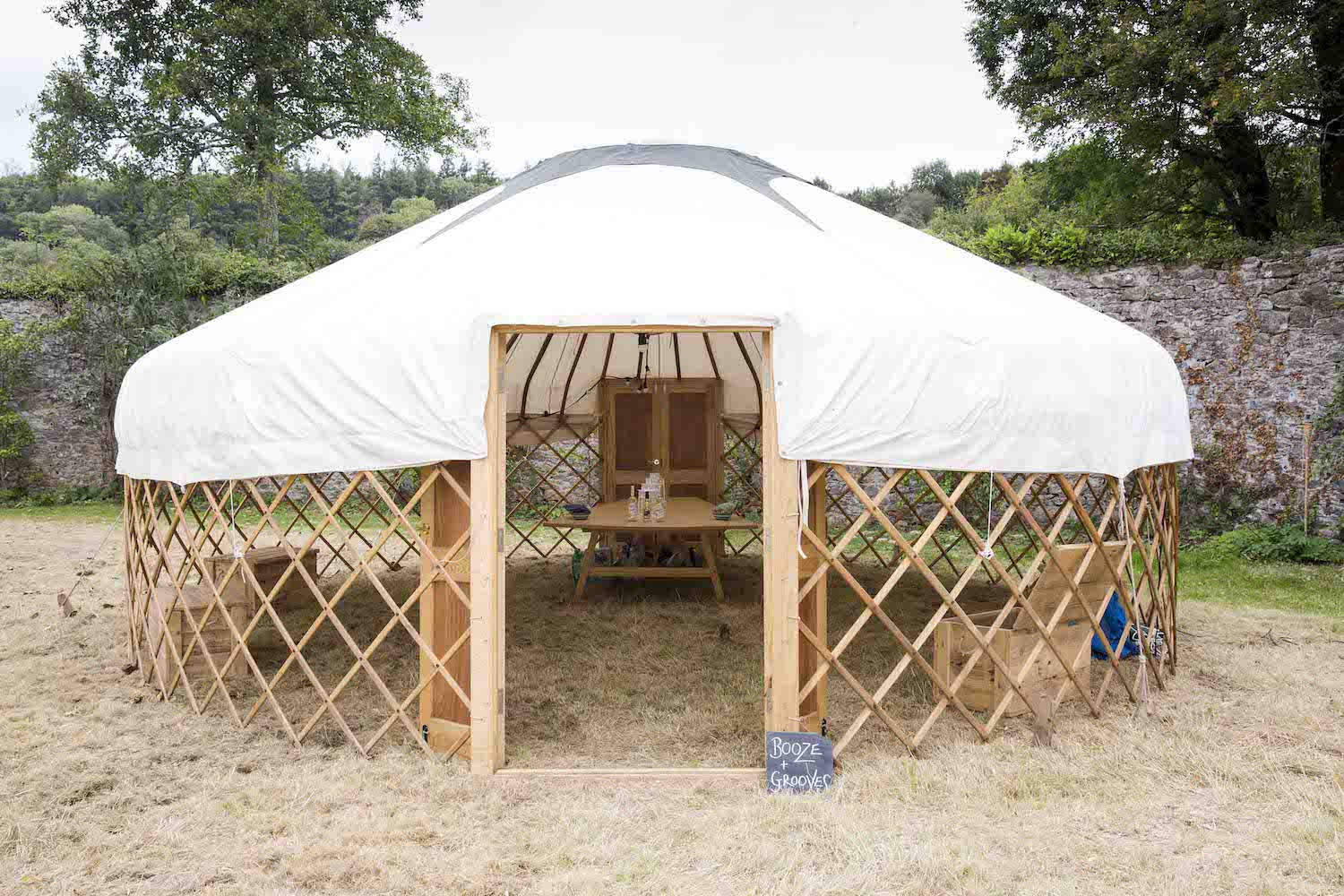 yurt with open sides