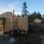 14ft Yurt with loo pod