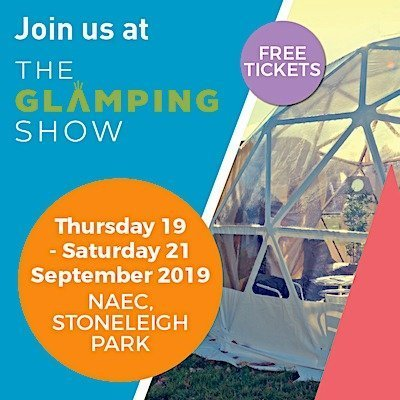 Join us at the Glamping Show