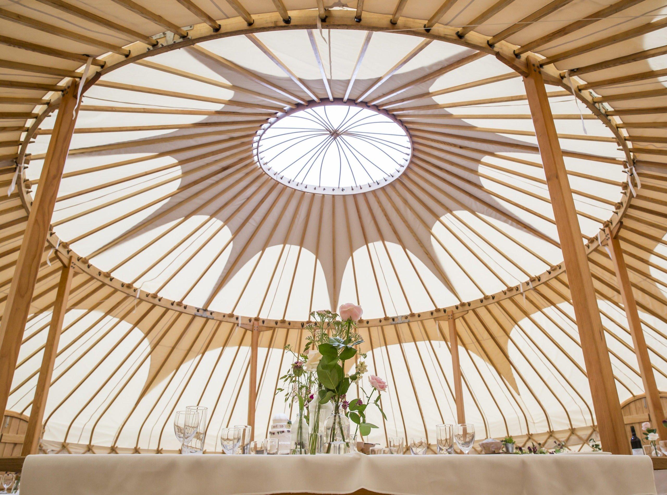 40 ft wedding yurt