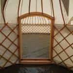 33 ft yurt podded onto a 12 ft yurt