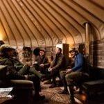 24 ft Yurt gathering