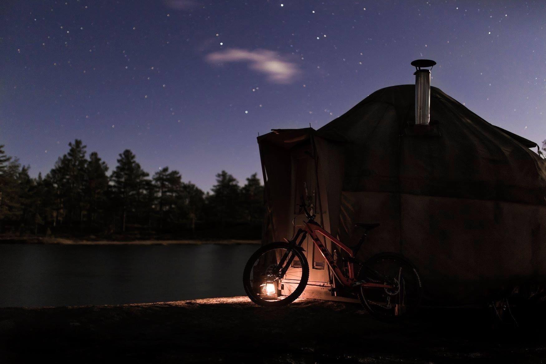 Yurt under the stars