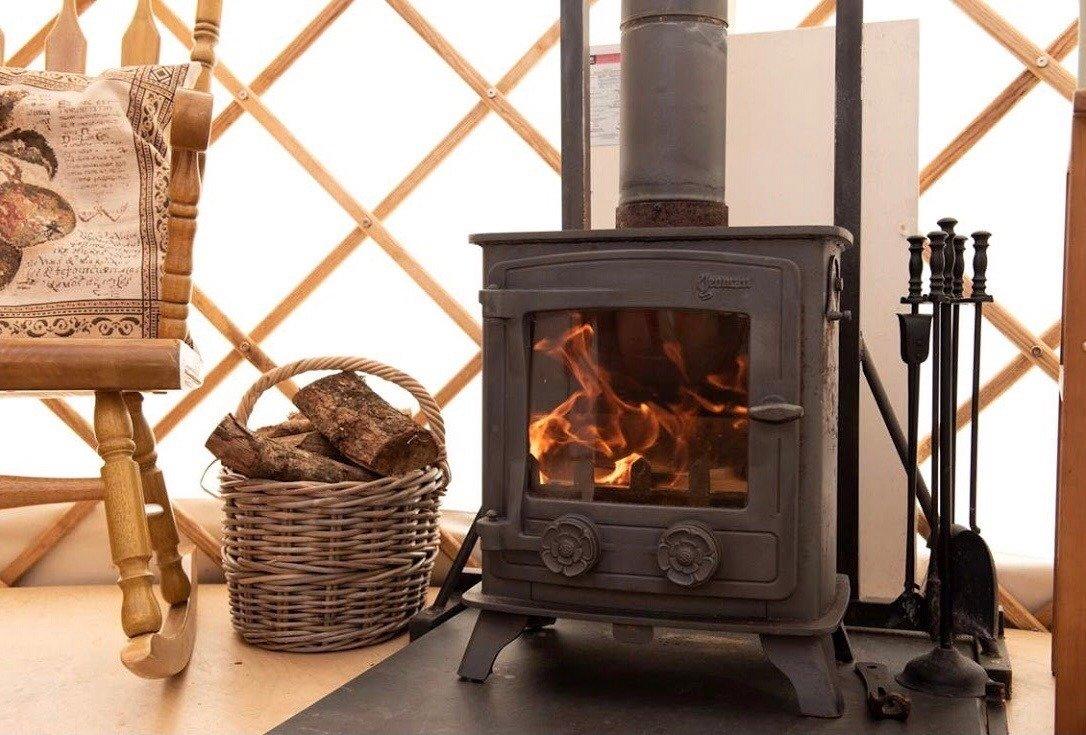 Yurt wood burning stove