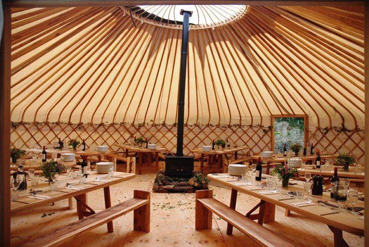 33ft yurt for parties