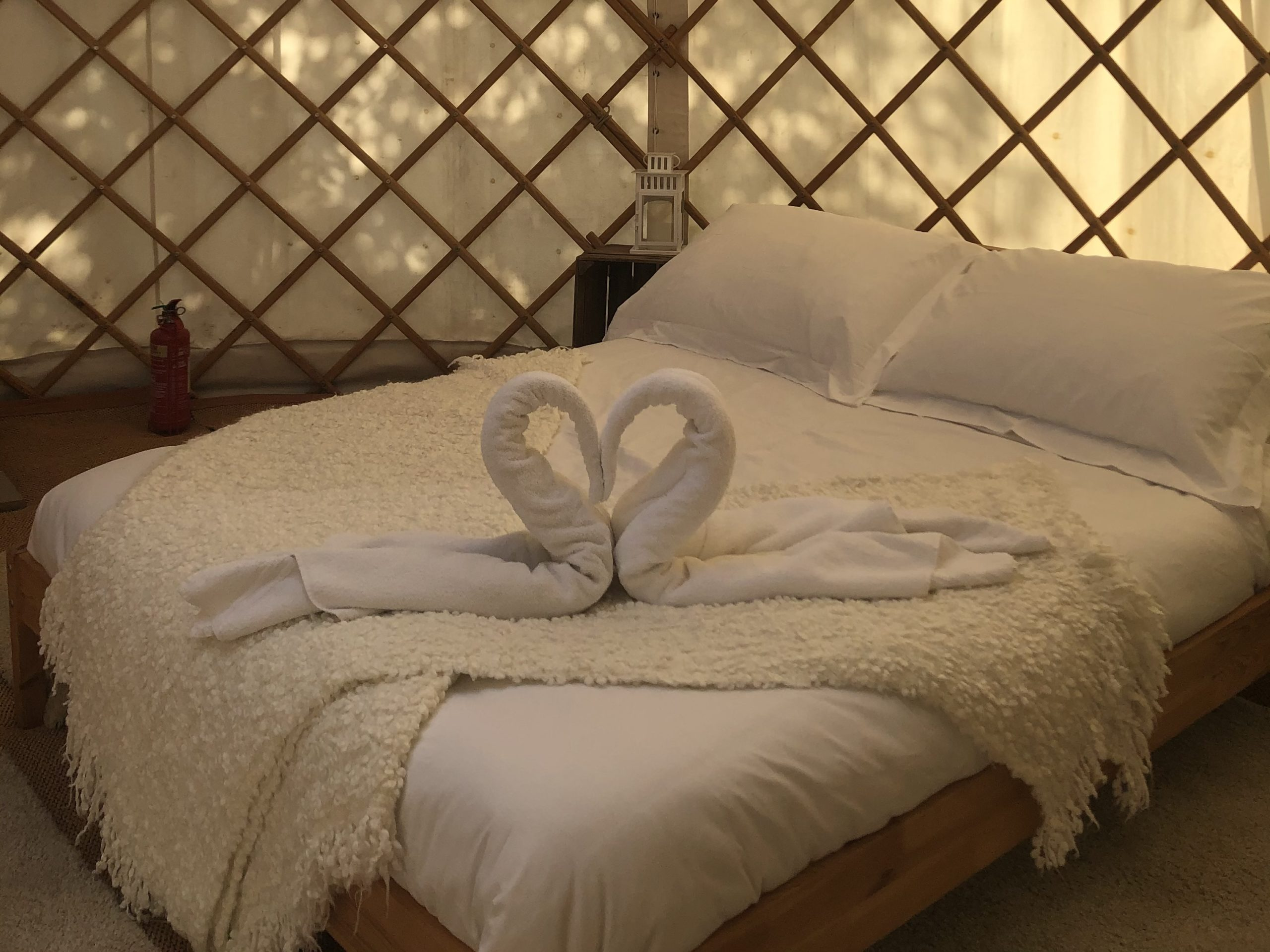 Double bed for yurt hire - glamping